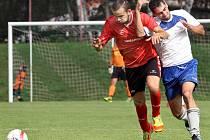 Fotbalisté Trmic (bílo-modří) doma porazili Soběchleby 3:1.
