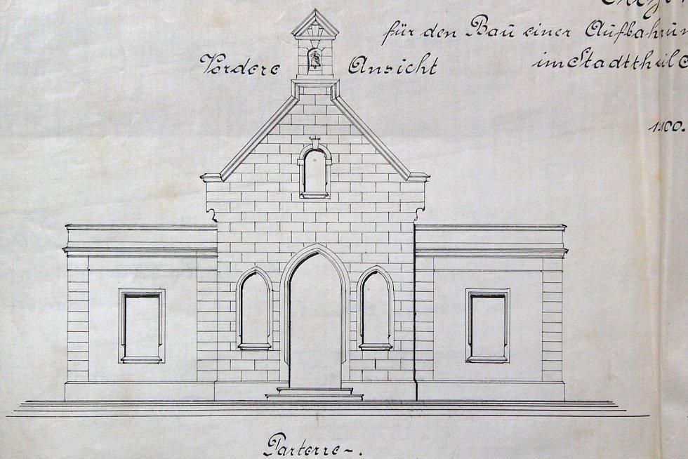Původní plány kaple v Krásném Březně