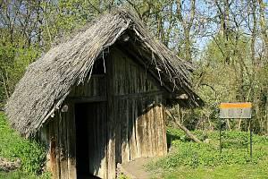 Jak je patrné z rekonstruované germánské chýše v archeoskanzenu na Lounsku, obydlí Germánů byla primitivní, částečně zapuštěná do země, se sedlovou střechou, stěnami z proutí vymazaných blátem a s typickou šestiúhelníkovou kostrou z dřevěných kůlů.