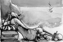 Ilustrace z knihy Jižan a blondýna.