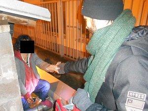 Bezdomovci v ústeckých ulicích
