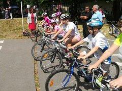 Dopravní soutěže mladých cyklistů v Ústí nad Labem.