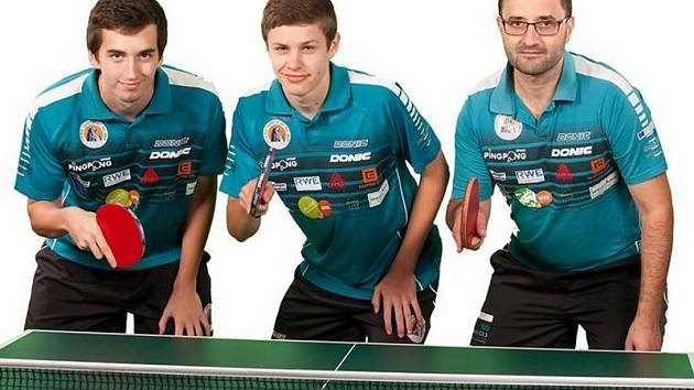 Oddíl Slavoje Ústí bude letos hrát ve složení (zleva) Jakub Seibert, Tomáš Polanský a David Štěpánek.