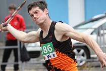 Atlet AC Ústí Jakub Janda vybojoval pro oddíl cenné body za 8. místo v hodu oštěpem a 3. místo ve výšce.