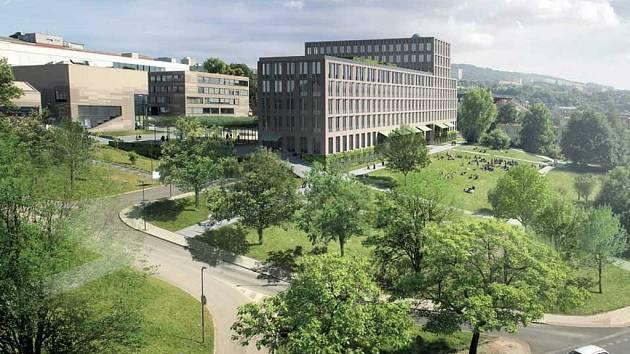 Vizualizace nové budovy ústecké univerzity, která má být hotová do konce roku 2019.