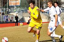 Fotbalové utkání FK Ústí nad Labem s FC Vysočina Jihlava.