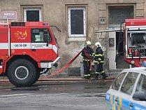 Požár domu v Hrbovické ulici v Předlicích.