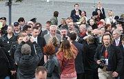Návštěva prezidenta Miloše Zemana v Mostu.