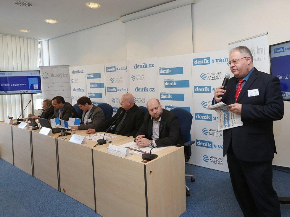 Generální ředitel vydavatelství VLTAVA LABE MEDIA a.s. Michal Klíma na Setkání s hejtmanem Oldřichem Bubeníčkem.