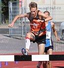 Baráž o extraligu v atletice mužů, září 2018 v Ústí nad Labem. Foto: Deník/Rudolf Hoffmann. Vít Pavlišta, 3 km překážek