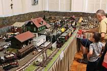 Výstava Historie a současnost modelové železnice na zámku v Trmicích