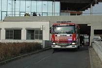 Požár vypukl v ústecké Masarykově nemocnici.
