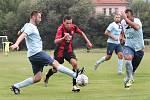 II. třída Ústí n/L 3. kolo - Utkání Trmic (červenočerní) s Přestanovem (modří) skončilo remízou 2:2, penaltový rozstřel zvládli lépe hosté z Přestanova.