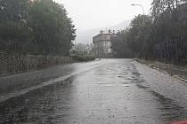 Vydatný déšť v Ústí nad Labem.