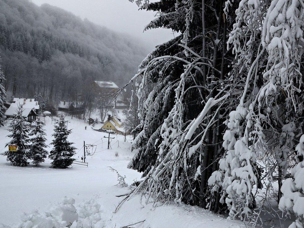 Na Telnici jsou ideální podmínky pro zimní radovánky.