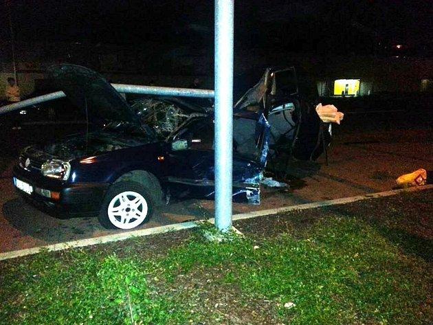 Nehoda u Kauflandu.