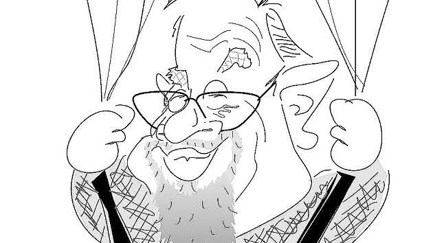 Daniel Kroupa - karikatura Radek Fetters