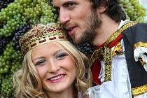 Král a jeho choť jsou tradiční postavy průvodu.