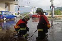 Čtvrthodinové přívalové deště napáchaly velké škody po celém Ústí.