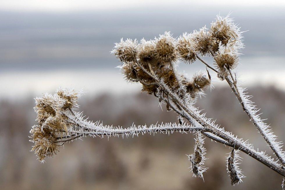 Jezero Milada v zimě