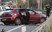 Dopravní nehoda na silnici z Ústí do Děčína.