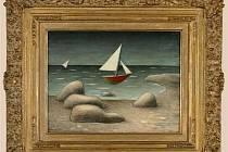 Obraz: Jan Zrzavý, Plující lodě, 1946, ol., tempera, dřevo.