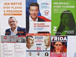 Předvolební plakáty