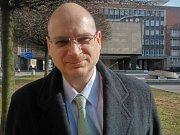 Kastelán Pavel Kučaba v redakci Ústeckého deníku.