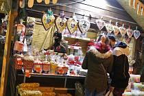 Vánoční trhy na Lidickém náměstí v Ústí nad Labem.