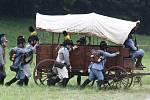 Bitva u Chlumce proběhla poblíž obce za hojné účasti návštěvníků.