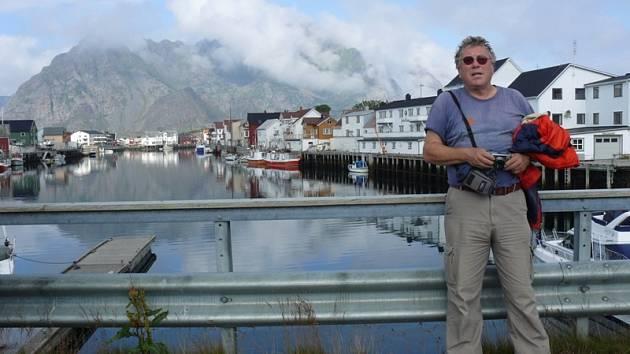 Ústecký cestovatel Ervín Dostálek v Henningsvaeru na Lofotách.