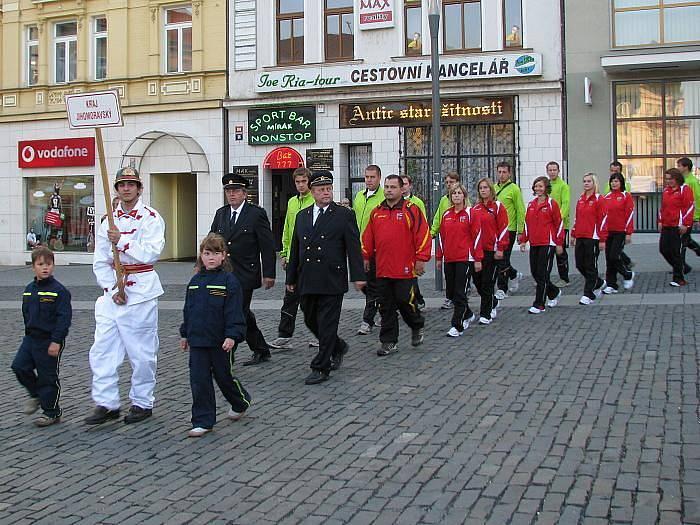 Slavnostní zahájení mistrovství dobrovolných hasičů v požárním sportu.