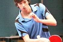 V posledních kolech 1. ligy stolních tenistů se dařilo Seibertovi, který maximálně bodoval.