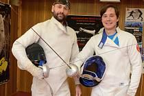 Šerm je adrenalinový sport, říká Robin Ivančo. Na snímku s otcem.