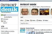 Ústecký deník také na Facebooku...