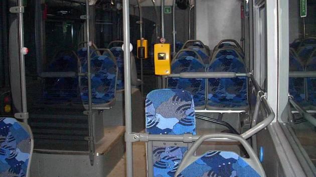 Interiér nového autobusu