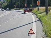 V ústecké Božtěšické ulici se srazila škodovka s motorkářem