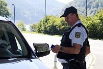 Kontroly německé policie ve Hřensku.