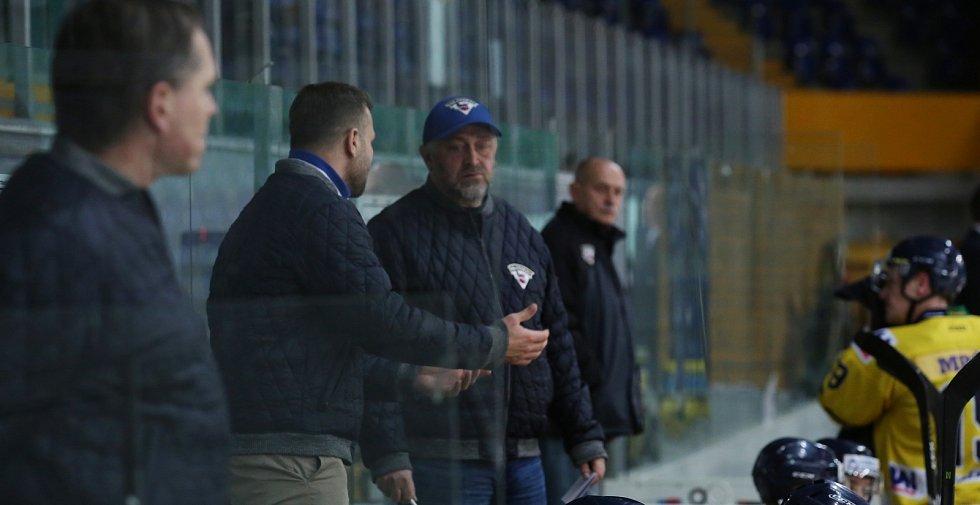 Střídačka HC Slovan Ústí nad Labem, Jaroslav Roubík a Tomáš Mareš