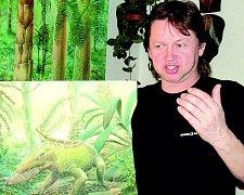 Výtvarník Jiří Svoboda z Mostu si maluje život od starohor po třetihory