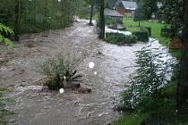 Povodně Povrly, 7. srpna 13:00-14.00 hodin