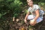 Milan Sobota na snímku z úspěšného houbaření u Kristina hrádku v Tisé