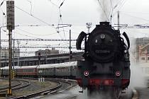 Ilustrační snímek. Parní lokomotiva