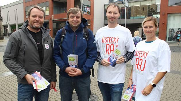 Kontaktní kampaň Trikolóry v Ústí nad Labem