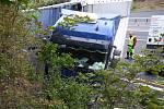 Havárie kamionu na dálnici D8.