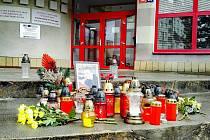 Pietní místo pro hasiče Jaroslava Čermáka.