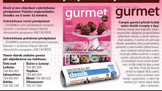 Získejte ZDARMA předplatné časopisu GURMET.