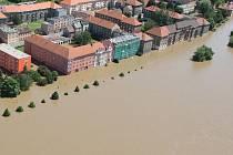 Voda na Střekově, červen 2013.