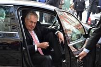 Prezident Miloš Zeman. Ilustrační foto.