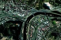 Letecká mapa na stránkách města Ústí nad Labem zobrazuje mnoho podrobností. Detaily má dokonce mnohem lepší než běžně využívané mapové portály.